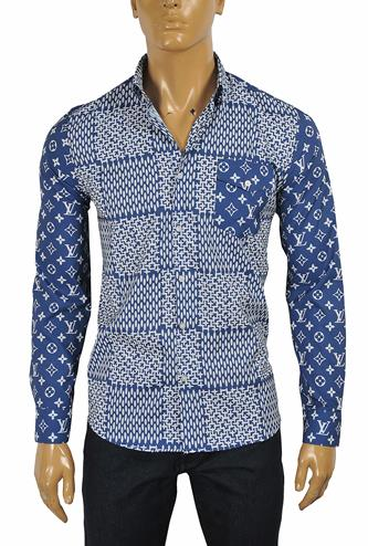 LOUIS VUITTON men's monogram shirt 3