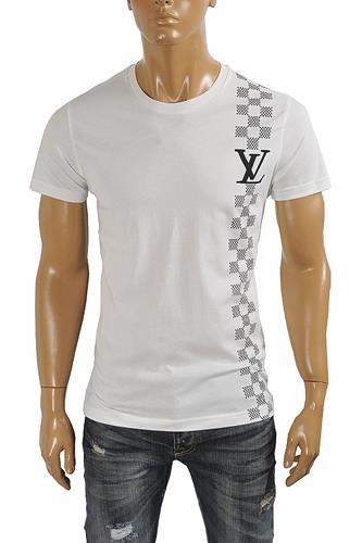 LOUIS VUITTON men's monogram printed t-shirt 4